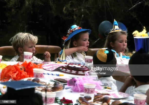 Party for the fifth birthday for the Infanta Cristina daughter of the Spanish King Juan Carlos and Sofia in the 'Palacio de la Zarzuela' Prince...
