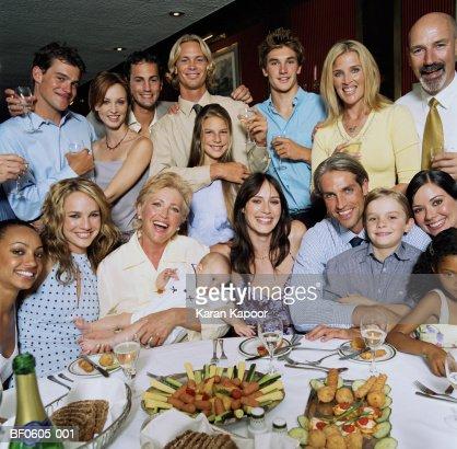 Party gathering, portrait