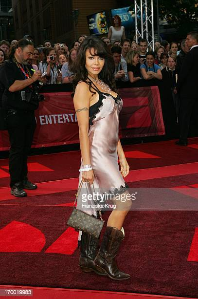 Party Girl Kader Loth at The 'War of the Worlds' European premiere in the theater at Potsdamer Platz in Berlin 140605