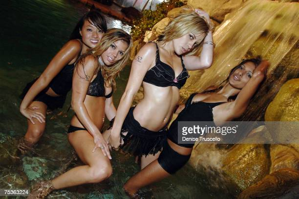 Party goers attend The Sports Dream Celebrity Poker Tournament benefiting the Jordan Jackson Group Home and The LA Stars on July 10 2007 at the...