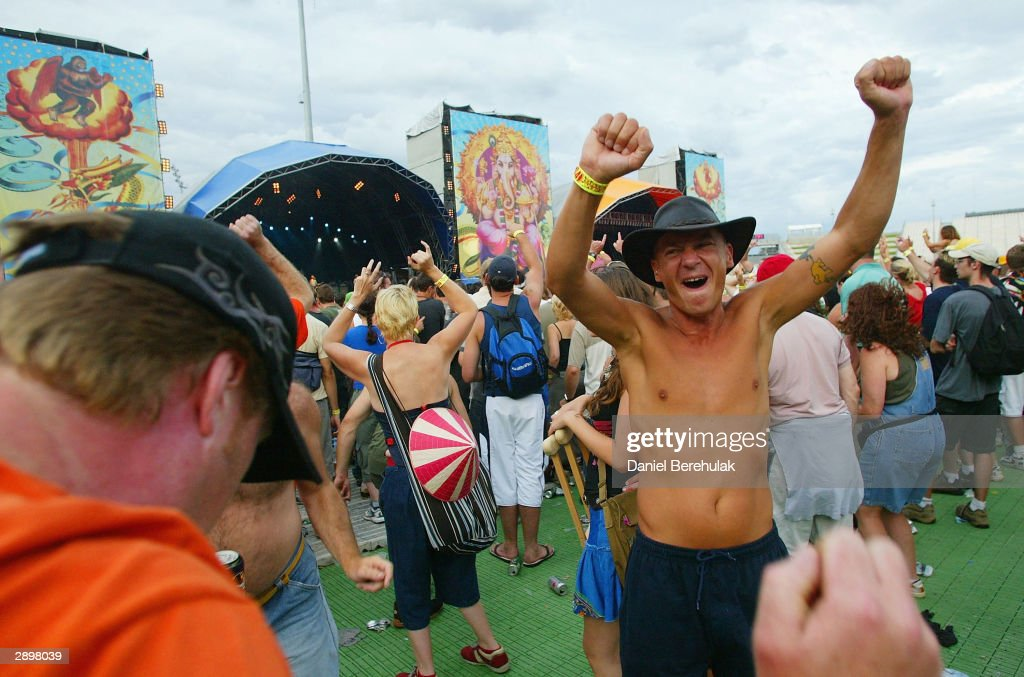 Party Goers Revel In The Atmosphere During Big Day Out Music Festival At Sydney