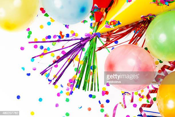 Party Hats, Balloons, Confetti, Ribbons