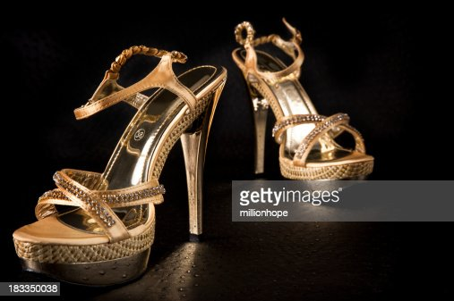 Party high heeled shoes