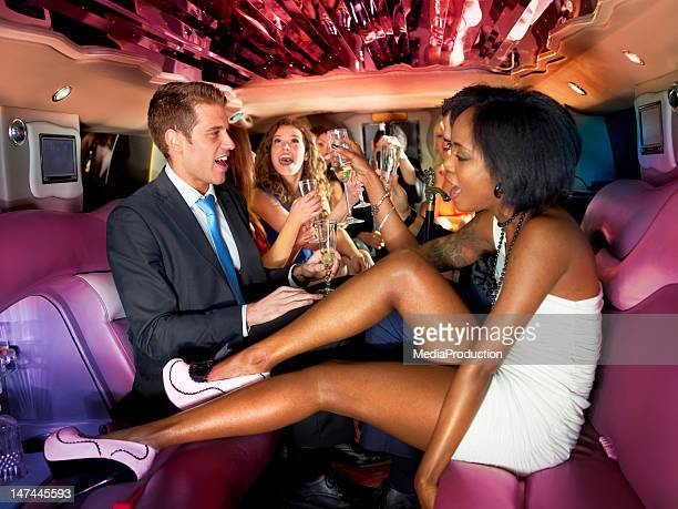 Party in a limousine