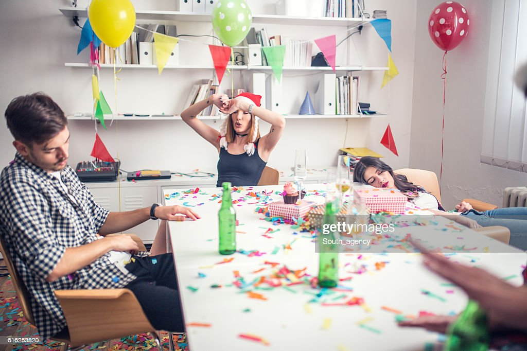 Party in the office : Stock Photo