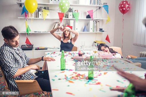 Fiesta en la oficina : Foto de stock