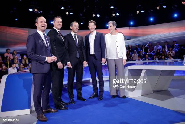 NEOS party leader Matthias Strolz Leader of the Freedom Party Chancellor of Austria and chairman of the Social Democratic Party of Austria Christian...