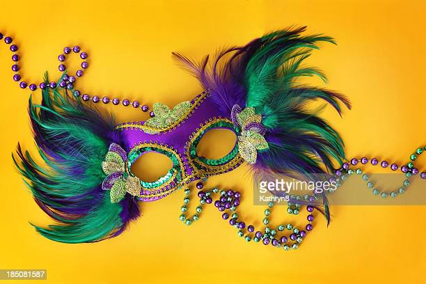 Party Mask on yellow