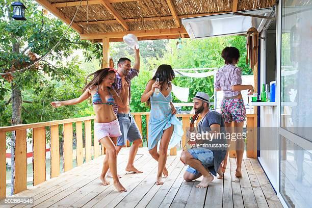 Party on the veranda