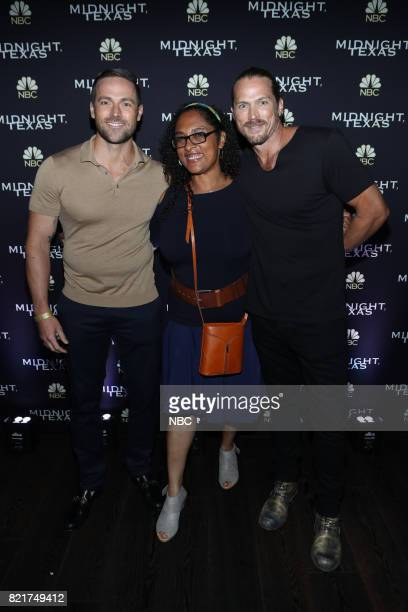 DIEGO 2017 ''NBC Party' Pictured Dylan Bruce Monica OwusuBreen Jason Lewis at the Oxford Social Club at Pendry San Diego Calif