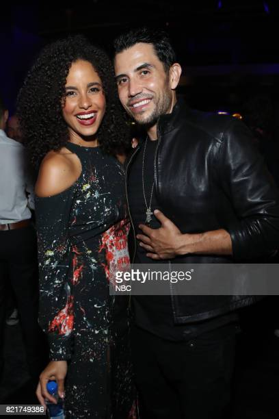 DIEGO 2017 ''NBC Party' Pictured Parisa FitzHenley Bernardo Saracino at the Oxford Social Club at Pendry San Diego Calif