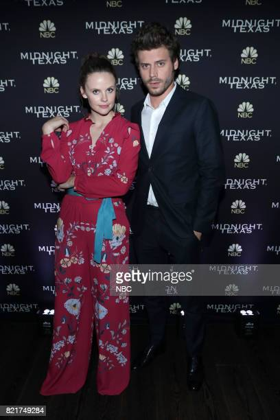 DIEGO 2017 ''NBC Party' Pictured Sarah Ramos Francois Arnaud at the Oxford Social Club at Pendry San Diego Calif