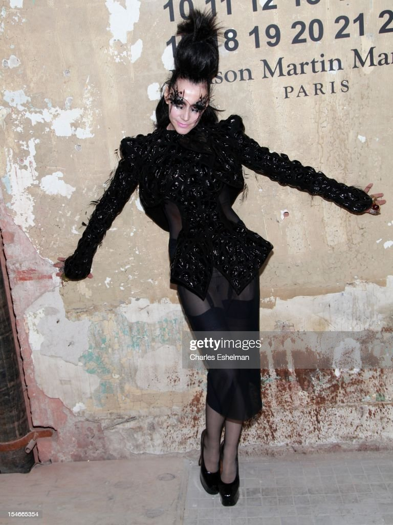 Party planner Susanne Bartsch attends the Maison Martin Margiela & H&M Global launch party at 5 Beekman on October 23, 2012 in New York City.