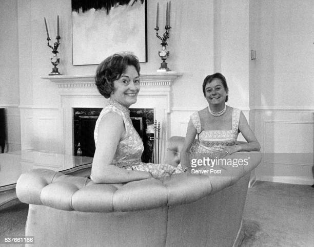 Party planners for the civic ballet association's annual benefit are Mrs W Mitchell Sams and Mrs Thornley B Wood Credit Denver Post Inc