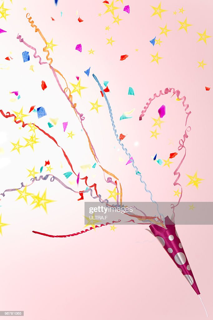 A party popper. : Stock Photo