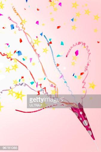 A party popper. : Foto de stock