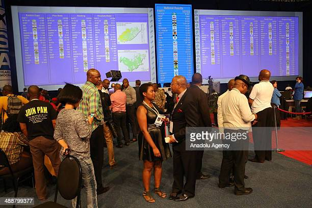 Party representatives come to the National Results Centre in Pretoria South Africa as vote counting process going on on May 8 2014