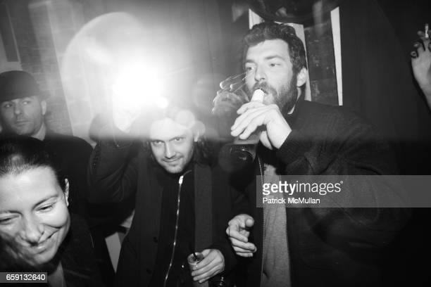 Party Scene guest and guest attend RADAR ENTERTAINMENT THE LAST MAGAZINE Toast Fashion Week at Studio 385 Broadway on February 20 2009 in New York...