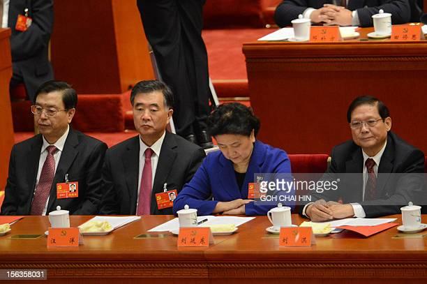 CPC Party secretary of Chongqing Zhang Dejiang Party secretary of Guangdong Wang Yang Chinese highest ranking woman politician Liu Yandong and former...