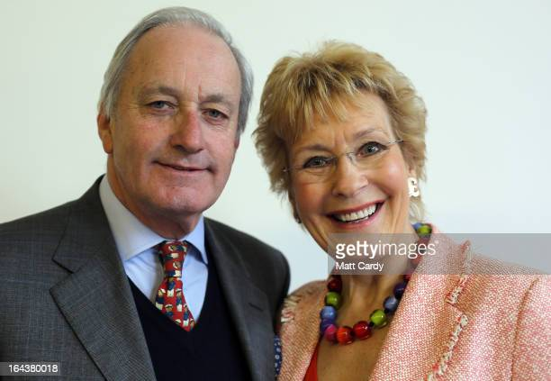UKIP party supporter Neil Hamilton and his wife Christine pose for a photograph at the UKIP 2013 Spring Conference being held in the Great Hall...