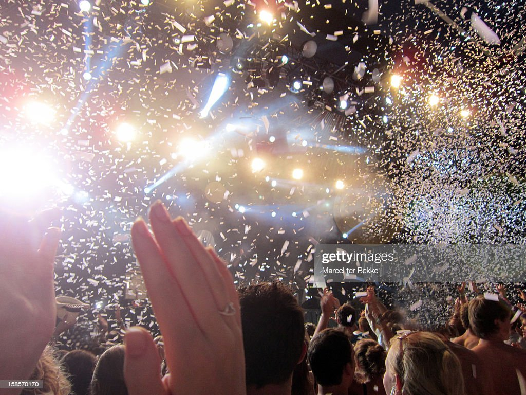 Party time at a concert : Stock Photo