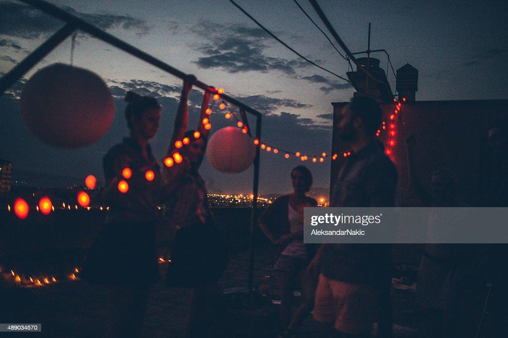 Feier im Himmel : Stock-Foto
