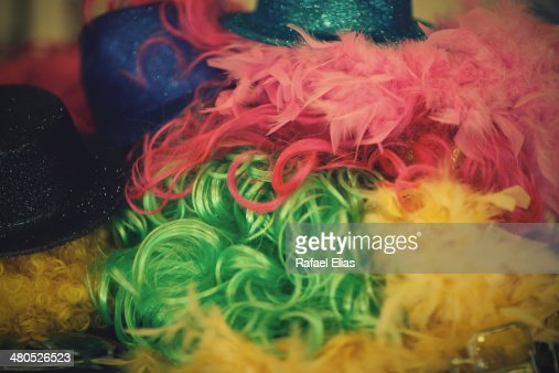 Party wigs : Stock-Foto