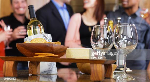 Réception avec vin et fromage