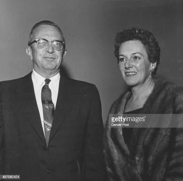Partygoers Mr and Mrs George Hayden were in the crowd Thursday at Denver Rotary Club's Centennial party Credit Denver Post