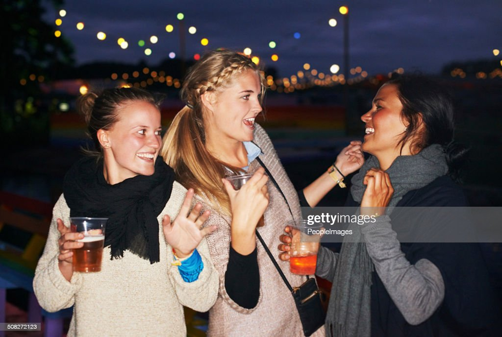 Partying under the stars : Stock Photo