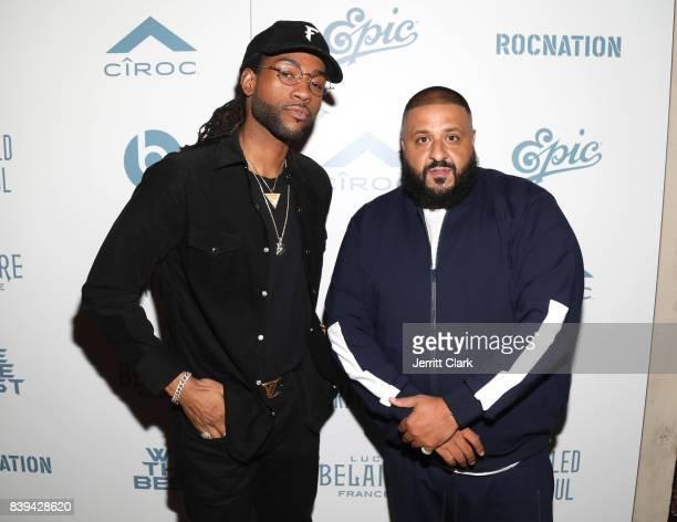 PartyNextDoor and DJ Khaled attend DJ Khaled 'Grateful' Platinum Celebration on August 25 2017 in Los Angeles California