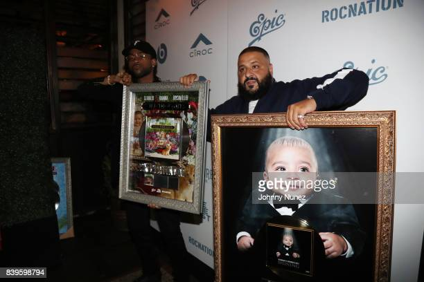 PartyNextDoor and DJ Khaled attend DJ Khaled's Platinum Dinner at Catch on August 25 2017 in West Hollywood California