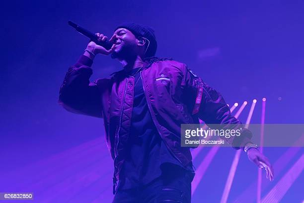 PartyNextDoor performs during the Summer's Over Tour at Aragon Ballroom on November 29 2016 in Chicago Illinois
