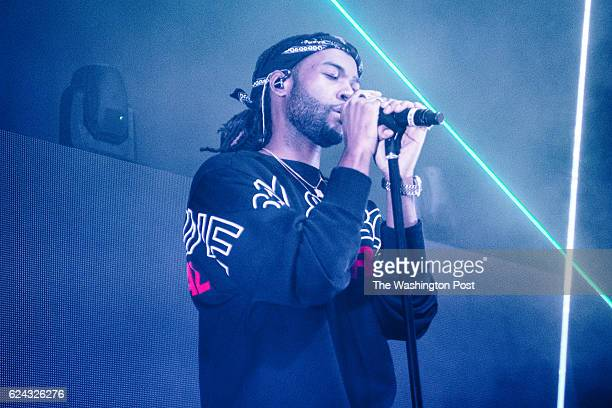 PartyNextDoor performs on stage at a sold out show at the Fillmore Silver Spring