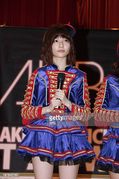 Parurumember of Japanese AKB48meets fans on Saturday November 92013 in TaipeiChina