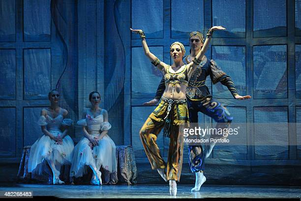 Pas de deux from Divertissement act second scene I of wellknown Tchaikovsky's ballet The Nutcracker performed by the Muscovite dance company La...