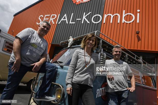 Pascal Amodru managing director of French company SerialKombi specialized in the sales of spare parts of the Volkswagen Kombi van his wife Yolande...