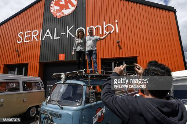 Pascal Amodru managing director of French company SerialKombi specialized in the sales of spare parts of the Volkswagen Kombi van and his wife...