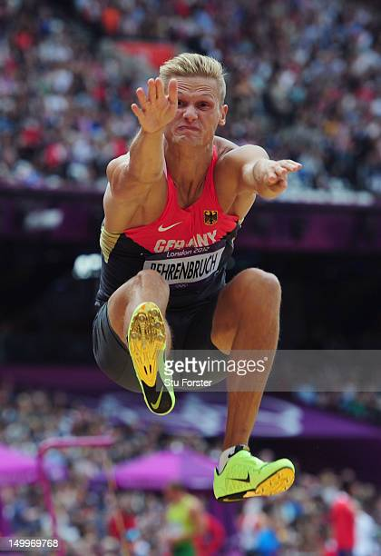 Pascal Behrenbruch of Germany competes in the Men's Decathlon Long Jump on Day 12 of the London 2012 Olympic Games at Olympic Stadium on August 8...