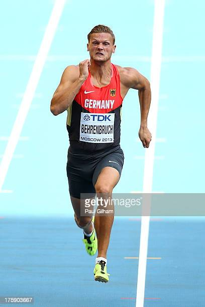 Pascal Behrenbruch of Germany in the Men's Decathlon 100 metres during Day One of the 14th IAAF World Athletics Championships Moscow 2013 at Luzhniki...