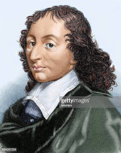 Pascal Blaise French mathematician physicist and philosopher Colored engraving