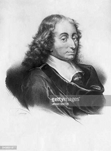 Pascal Blaise16231662Philosopher mathematician Francecontemp portraitengraving