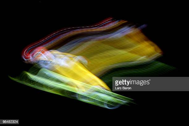 Pascal Bodmer of Germany competes during qualification for the FIS Ski Jumping World Cup event at the 58th Four Hills ski jumping tournament at...