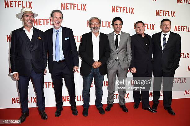 Pascal Breton Netflix Co Founder and CEO Reed Hastings Dan Franck Samuel Benchetrit Florent EmilioSiri and Netflix chief content officer Ted Sarandos...