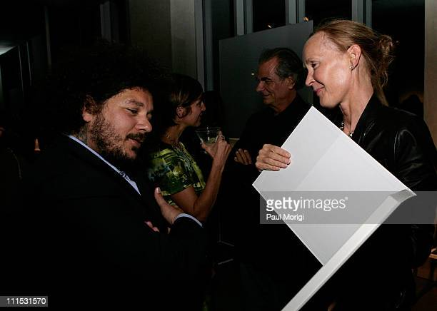 Pascal Dangin and Mia Demarchelier attend La Mer Celebrates 'Liquid Light' By Fabien Baron at The Glass Houses on September 10 2008 in New York City