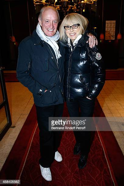 Pascal Desprez with his wife actress Mireille Darc attend JeanDaniel Lorieux signs his Book 'Sunstroke' at the Art Bookshop of the 'Royal Monceau...