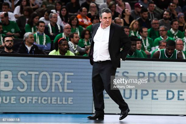 Pascal Donnadieu coach of Nanterre during the Final of the French Cup between Le Mans and JSF Nanterre at AccorHotels Arena on April 22 2017 in Paris...