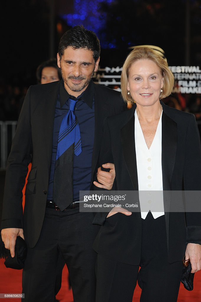 Pascal Elbe and Marthe Keller attend the Tribute to French Cinema during the Marrakech 10th Film Festival.