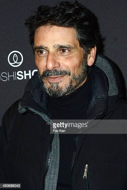 Pascal Elbe attends the Sushi Shop Launches New Menu By Joel RobuchonPhoto Call At Le Mini Palais on November 19 2013 in Paris France