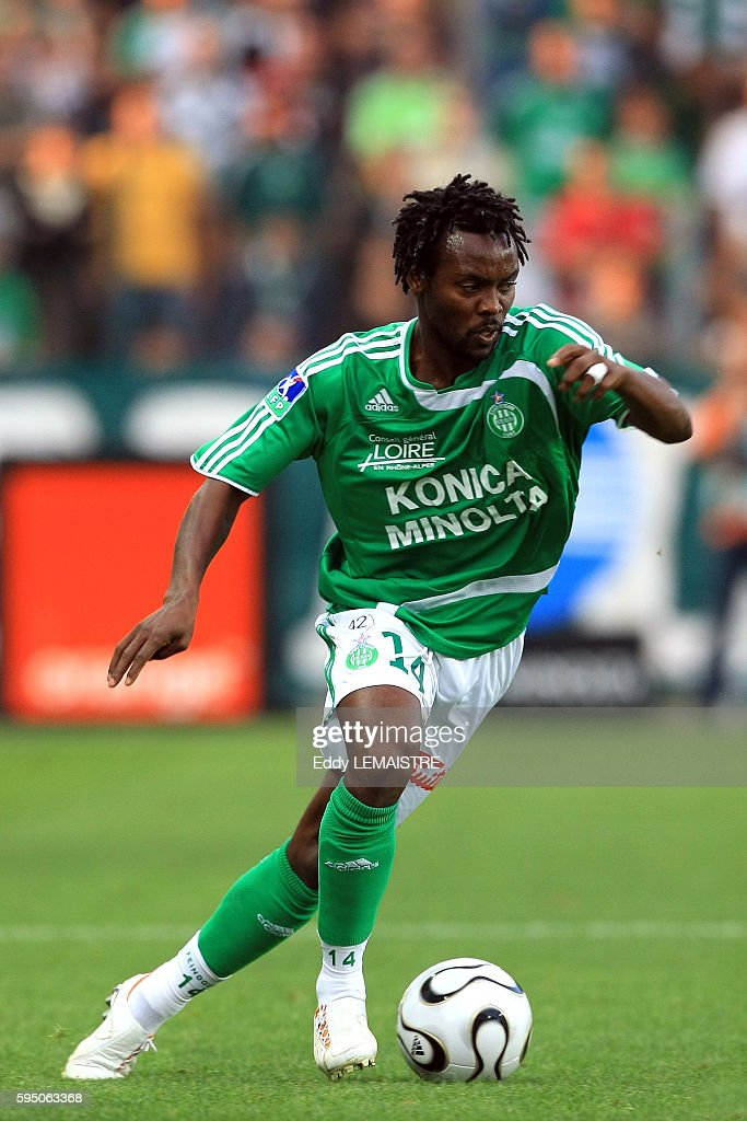 Pascal Feindouno during the French Ligue 1 soccer match between AS Saint Etienne and Girondins de Bordeaux | Location Saint Etienne France